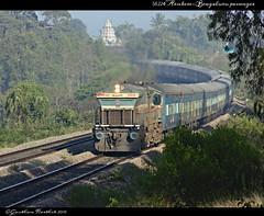 56224 Arsikere-Bengaluru City passenger.. (Gautham Karthik) Tags: train gradient indianrailways kjm wdg4 dodbele