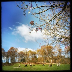 Nine Ladies Stone Circle, Derbyshire. (scott.simpson99) Tags: sky cloud outdoors countryside derbyshire pagan stonecircle megalith thepeakdistrict 366 scottsimpson iphone6 hipstamatic