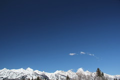 Grand Tetons and a lot of sky (Aggiewelshes) Tags: travel winter snow landscape scenery april wyoming jacksonhole visitorcenter grandtetonnationalpark 2016 gtnp