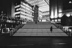 Osaka Station (PeiPei Yang) Tags: street bw japan night blackwhite snapshot osaka