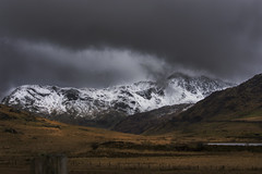 snowy mountains (connorcookseyphotography) Tags: mountain wales dark landscape moody snowy snowymountain nikond7200
