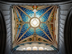 La Almudena Cathedral (real ramona) Tags: roof sky church stars cathedral arches dome