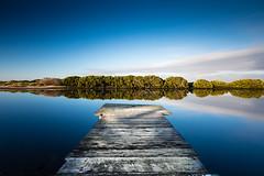 Into the blue (Marty Friedel) Tags: wood longexposure morning water sunrise landscape pier jetty au australia melbourne victoria williamstown filter lee altona nisi kororoitcreek