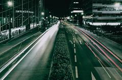 (adampodr) Tags: street city red green film night photography ride prague cam line effect nighlife vsco