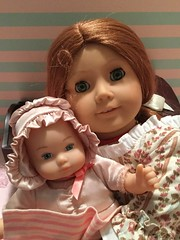 Baby Polly (bumbledaph) Tags: baby girl doll dolls sister american ag polly felicity cradle americangirl pleasantcomany