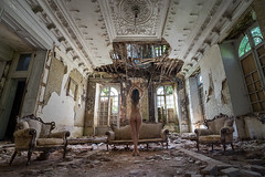 The sky's falling (re-edit) (wil.crooymans) Tags: urban woman castle art abandoned beauty nude model decay exploring belgi chateau vrouw artisitc kasteel urbex naakt verval artistiek chateaucongo