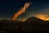 smoke signal (Collin Key) Tags: sunset mountains indonesia landscape volcano java desert dusk idn mountbromo seaofsand smokecloud tenggercaldera mountbatok