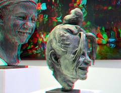 Sculptures Virgilius Moldovan 3D (wim hoppenbrouwers) Tags: sculpture bronze 3d rotterdam gallery anaglyph galerie stereo sculptures brons zic redcyan zerp virgiliusmoldovan galerieziczerp