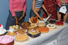 Bake Sale (citycirclez) Tags: scale cookies cake miniatures sale ken barbie pies 16 bake diorama playscale