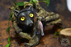 Ba-Wolf (rioky_angel) Tags: cute monster creativity toys furry wolf handmade ooak fluffy fantasy clay artdoll creature arttoy toymaker polimerclay riokycreatures