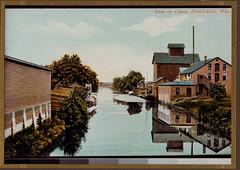 Canal, Hosiery Works, Feedmill, Color Postcard