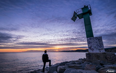 2016-01-17 (2) (Death-Soul) Tags: sunset sea sky sun lighthouse seascape man sol me clouds landscape faro atardecer mar nikon rocks yo paisaje cielo nubes hombre rocas arenys arenysdemar nikond3300 d3300