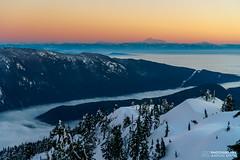 Vancouver Lost (AZ Design Photography) Tags: trees sunset sky mountain snow mountains tree fog clouds landscape washington rocks bc britishcolumbia glaciers mtseymour northvancouver seymour indianarm mtbaker mountseymour firstpump