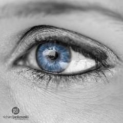 Soul Window (Rich Jankowski) Tags: blue iris macro reflection eye closeup canon thoughtful 100mm eyelash pupil ef100mmmacrof28usm ef100mmmacrof28 canon5dmkii 5d2