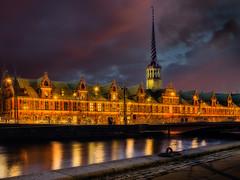 Borsen (ibjfoto) Tags: city urban building by night copenhagen denmark evening nightlight bluehour danmark kbenhavn brsen aften borsen bltime