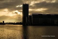 Allianz tower in Berlin 05022016 (1) (MartinE157) Tags: morning sky building berlin tower river kreuzberg cloudy outdoor spree allianz freidrichshain 912am