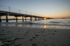 Sunset-DSC03875-120116 (Igor Vlah) Tags: sunset sea sky sun beach pier waves stones sony slovenia 12mm portoroz samyang a6000