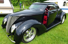 BLACK & RED. (goldiesguy) Tags: auto old classic cars car outdoors automobile antique shaved classics vehicle custom automobiles carshow goldiesguy