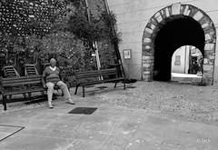assoupi (Jack_from_Paris) Tags: street summer bw sun mer lines alpes bench lens prime soleil nikon nap angle noiretblanc candid wide sur 24mm monochrom capture t 06 fatigue banc vieux maritimes lignes lightroom sommeil sieste cagnes nx2 estivale ligthroom nikkorafs24mmf14ged d800e jpr6935d800ebw