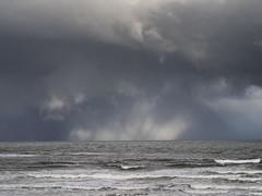 Kingsbarns Storm Clouds 001 (KeithProvenArtist) Tags: seascape storm beach rain clouds landscape coast scotland waves fife dramatic shore kingsbarns olympusomd