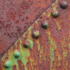 Divided (Nathan Reading) Tags: old texture metal rust rivets antique decay