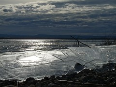 Ice maker (Chris Coury) Tags: ice clouds landscape idaho shore lakescape lakelowell