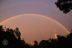 Rainbow (Rubn Gil) Tags: barcelona sky arcoiris rainbow nikon bcn cielo montaa montain tibidabo meteo tiempo collserola