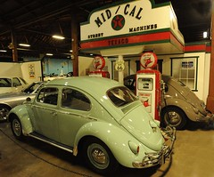 1961 Volkswagen (D70) Tags: california street usa signs station museum vw volkswagen advertising four us cafe hp automobile cu pumps air beetle 66 gas cylinder hudson pepsi sacramento 40 machines texaco 72 1949 1961 firechief cooled midcal