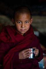 'Coffee is not my cup of tea' (subodh shetty) Tags: travel nepal portrait people white colors kids photography nikon shrine peace buddhist prayer religion saints culture documentary vivid traditions places roadtrip tibet monastery journey monks nikkor katmandu 70200 tibetian shetty gompa subodh d4s mynikkor