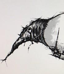 Clown wip (daniel.thorn) Tags: art illustration dark watercolor sketch artist jester clown gothic goth creepy spooky oil watercolour joker darkart