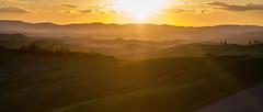 . (_Alexei) Tags: sunset italy sun green landscape golden evening spring dusk hills ridge tuscany crete siena toscana  senesi