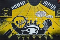 Calling planet earth (Krasivaya Liza) Tags: city atlanta urban art ga georgia graffiti artwork colorful cityscape atl funky gritty images eastatlanta urbangrit