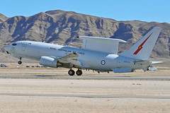 A30-001 (Rich Snyder--Jetarazzi Photography) Tags: plane airplane lasvegas aircraft nevada jet nv boeing departure takingoff takeoff e7 aew raaf radar wedgie departing wedgetail nellisafb airborneearlywarning commandandcontrol royalaustralianairforce lsv e7a klsv a30001 no2squadron