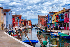 The town's been talking about us (kalagonda) Tags: world travel venice vacation italy colour river boat europe explore murano burano