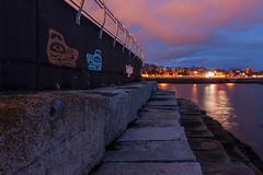 Ogden Point Breakwater (C McCann) Tags: ocean longexposure sunset sea sky canada water lines clouds dark point bc purple pacific dusk britishcolumbia victoria vancouverisland designs westcoast leading ogden breakwater