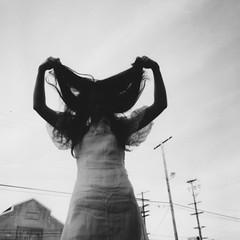 uzumaki (healingnoise) Tags: portrait bw white black art monochrome dark polaroid blackwhite outdoor surreal darkart elainecarlin healingnoise