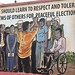 We should learn to respect and tolerate views of others - wall mural at Electoral Commission