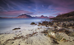 Elgol Bay (the CAMera of ian CAMpbell; simple) Tags: sea mountain mountains skye beach canon bay long exposure harbour ngc filter isle nuance cuillin elgol cokin camcam