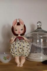 New dress for Clover (Sendell_Caramdir) Tags: dolls overalls bjd dust spun legit spn zouh dustofdolls