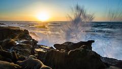 La Jolla Sunset (Danny Crowder) Tags: sunset sea sun seascape landscape la san diego jolla waterscape