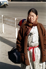 31-313 (ndpa / s. lundeen, archivist) Tags: city winter woman color fall film face scarf 35mm clothing child candid coat nick citylife streetphotography streetlife pedestrian korea clothes korean seoul 1970s southkorea 1972 31 carry carrying dewolf onfoot onherback nickdewolf photographbynickdewolf reel31