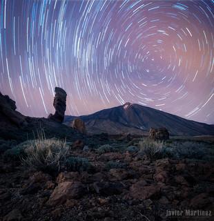Startrails Teide