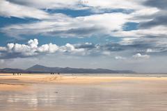 Too small for a big world (davidblas) Tags: ocean sky people seascape beach water clouds sand fuerteventura paisaje arena nubes playas islascanarias canon5dmkiii riscoelpaso davidblas davidblasphotography
