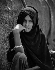 Girl in Afar village (nahlinse) Tags: portrait people film mediumformat iso100 fuji tribes ethiopia afar fujineopanacros fujineopanacros100 film:brand=fuji film:iso=100 developer:brand=adox film:name=fujineopanacros100 adoxadonal developer:name=adoxadonal filmdev:recipe=9369