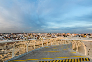 Seville Jan 2016 (5) 806  - Around and about the Metropol Parasol in Plaza de la Encarnacion at the other end of the day this time - waiting for the sunset