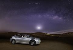 Sonata (zaid.sp14) Tags: sky car way nikon desert 14 saudi arabia hyundai milky sonata d610 samyang riyadhprovince