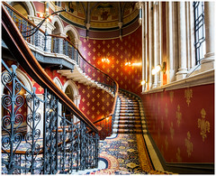 Grand stairway St Pancras Hotel (kevingrieve610) Tags: london st hotel indoor staircase pancras