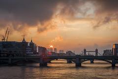 The Rising Sun HC9Q7073-1-2 (rodwey2004) Tags: sunlight london weather towerbridge sunrise cityscape landmark canarywharf iconic riverthames theshard