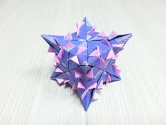 Truncated Thorn Cube (hyunrang) Tags: origami 45 cube 23 thorn hur truncated kusudama kwhur