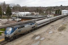 At the Depot (imartin92) Tags: railroad station train michigan annarbor rail amtrak passenger genesis ge wolverine generalelectric p42dc
